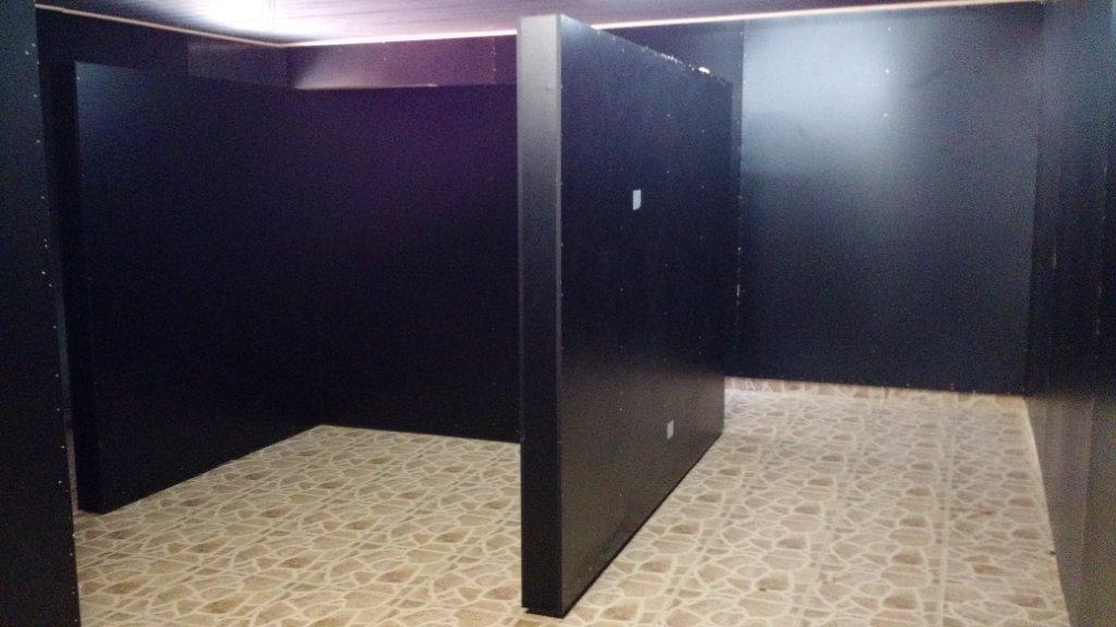 1º sala do Geomuseu: Painéis a serem adesivados.