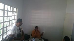 Tenente Rondon (sentado) e Wellington -Núcleo de educação Ambiental da FMAP