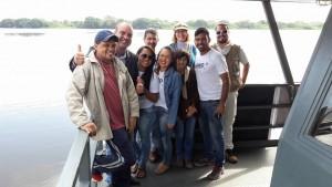 Com. De Castro com equipe da Prefeitura Municipal de Ladário, Geopark e moradores da APA Baía Negra