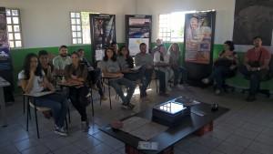Grupo de alunos e professores UFMS