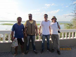 Sr Vldinei, Anderson, Leo e Felipe no Mirante da Capivara