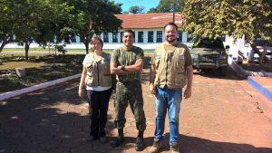 Equipe Geopark com Comandante Couto do Exército