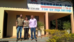 Equipe Geopark na Rádio Serrana com Nei
